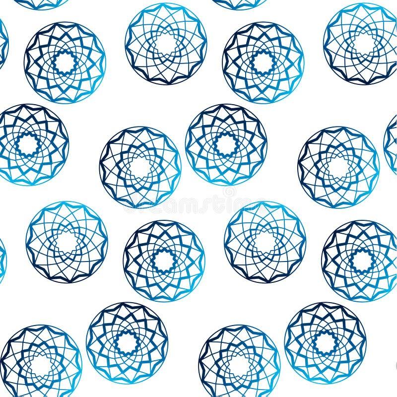 Μπλε διάνυσμα σημείων Πόλκα μορφής διαμαντιών ελεύθερη απεικόνιση δικαιώματος