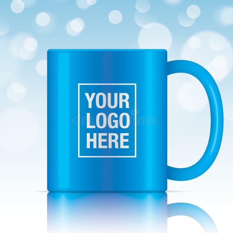 Μπλε διανυσματική κούπα καφέ διανυσματική απεικόνιση