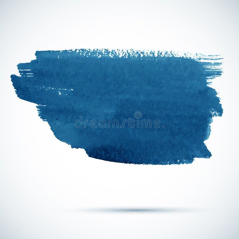 Μπλε διανυσματικός λεκές πινέλων διανυσματική απεικόνιση