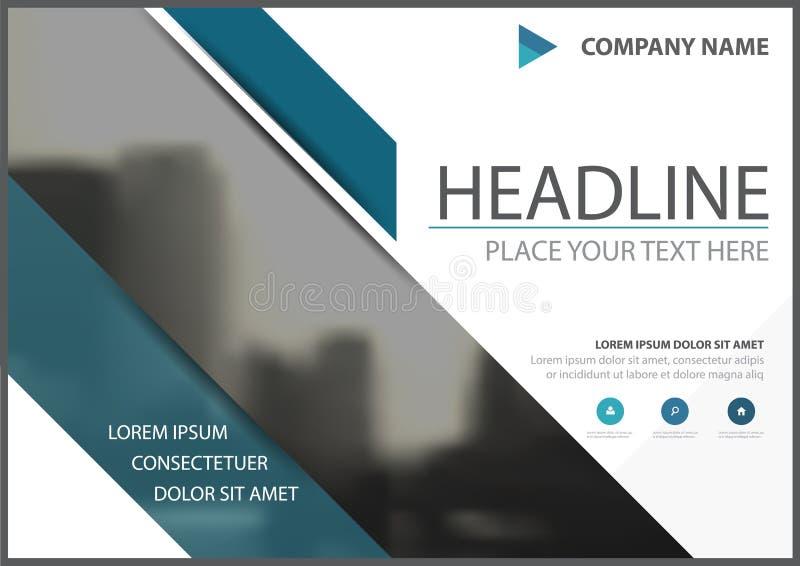 Μπλε διανυσματικό σχέδιο κάλυψης ιπτάμενων επιχειρησιακών φυλλάδιων τριγώνων, φυλλάδιο που διαφημίζει το αφηρημένο υπόβαθρο, σύγχ διανυσματική απεικόνιση