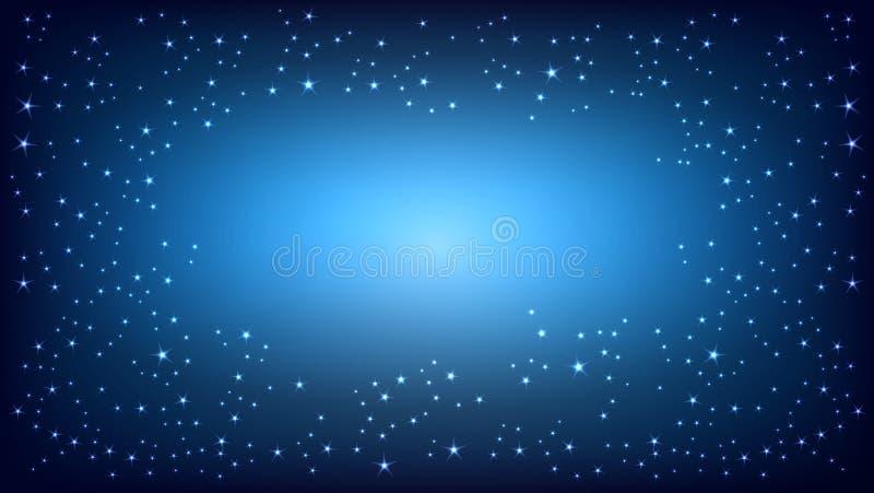 Μπλε διαστημικό υπόβαθρο επίσης corel σύρετε το διάνυσμα απεικόνισης απεικόνιση αποθεμάτων