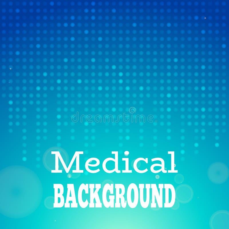 Μπλε ιατρική ανασκόπηση διανυσματική απεικόνιση