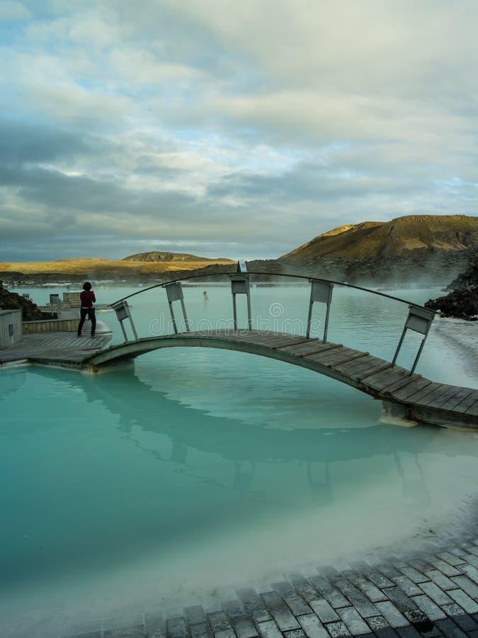 Μπλε λιμνοθάλασσα Ισλανδία στοκ εικόνες με δικαίωμα ελεύθερης χρήσης