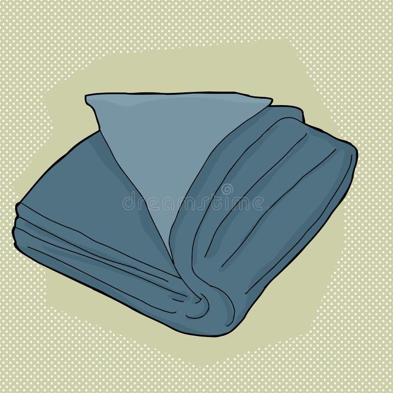 Μπλε διπλωμένη πετσέτα διανυσματική απεικόνιση