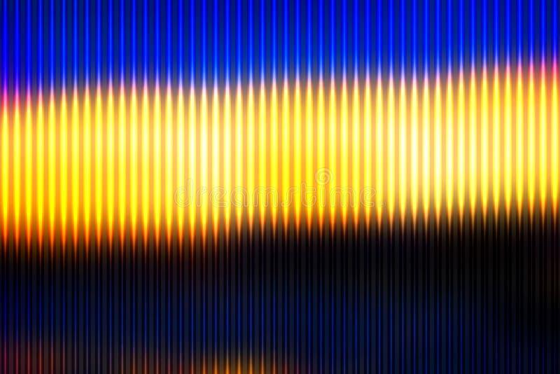 Μπλε κίτρινη πορτοκαλιά μαύρη περίληψη τις ελαφριές γραμμές που θολώνονται με backg απεικόνιση αποθεμάτων