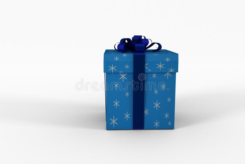 Μπλε και ασημένιο κιβώτιο δώρων ελεύθερη απεικόνιση δικαιώματος
