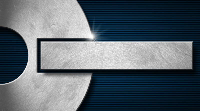 Μπλε και επαγγελματική κάρτα μετάλλων ελεύθερη απεικόνιση δικαιώματος