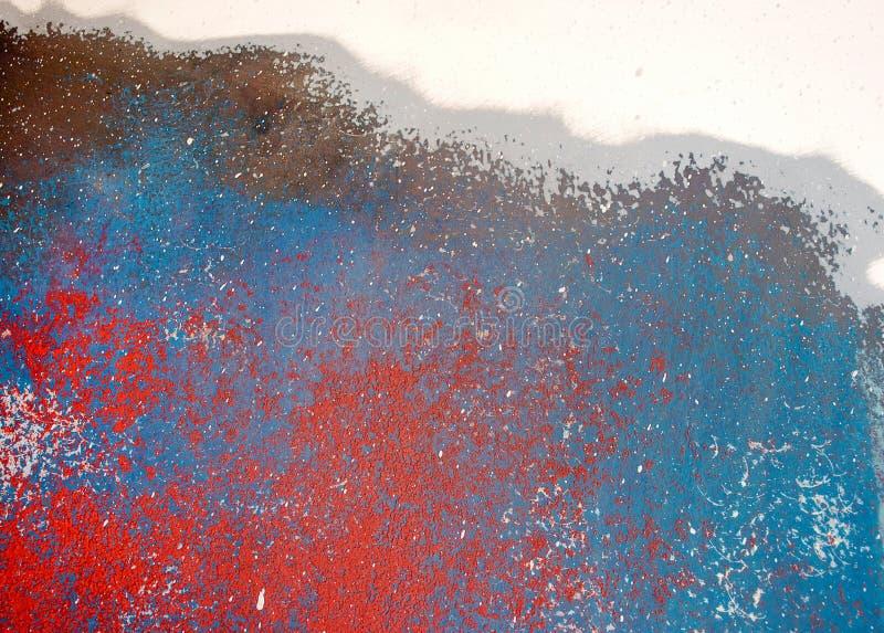 Μπλε και κόκκινη χονδροειδής σύσταση χρωμάτων στοκ φωτογραφίες