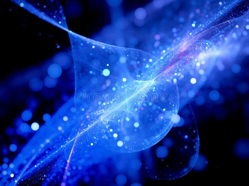 Μπλε καμμένος σύστημα αστεριών με τις τροχιές στοκ εικόνα με δικαίωμα ελεύθερης χρήσης