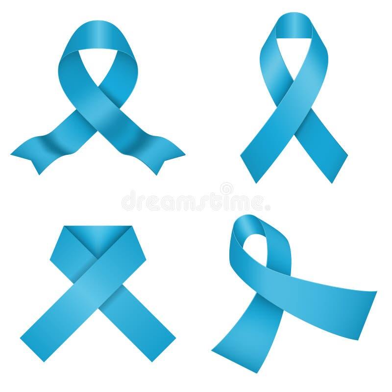 Μπλε κορδέλλες συνειδητοποίησης επίσης corel σύρετε το διάνυσμα απεικόνισης απεικόνιση αποθεμάτων