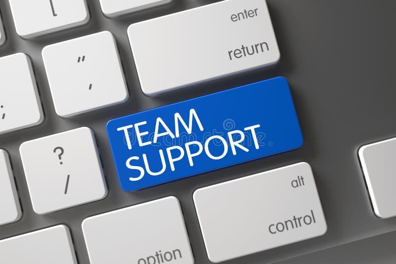Μπλε κουμπί υποστήριξης ομάδας στο πληκτρολόγιο τρισδιάστατος απεικόνιση αποθεμάτων