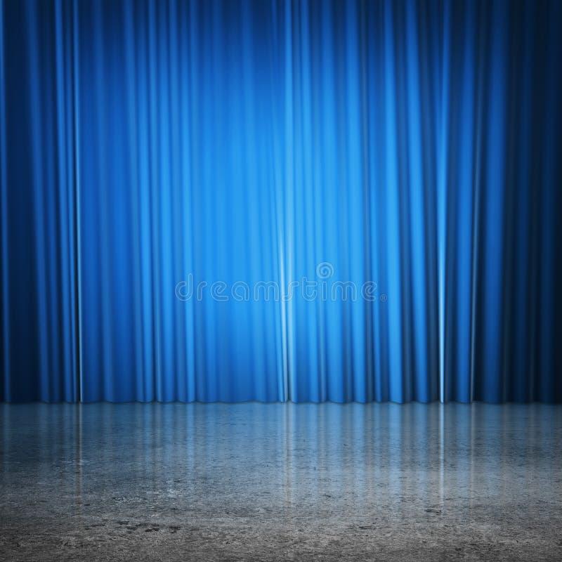 Μπλε κουρτίνες στοκ εικόνες