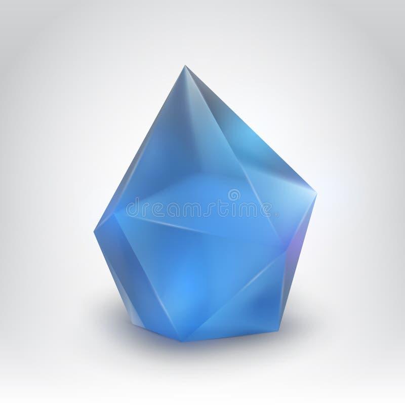 Μπλε κρύσταλλο διανυσματική απεικόνιση