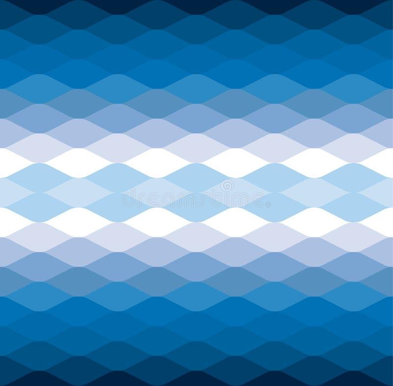 Μπλε κυμάτων υπόβαθρο σχεδίων νερού δροσερό διανυσματικό απεικόνιση αποθεμάτων