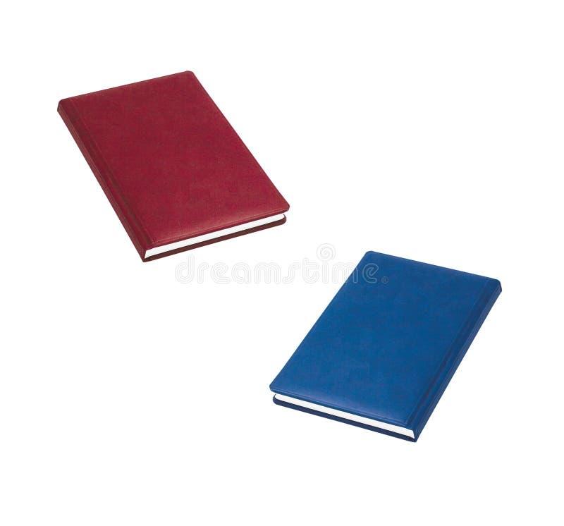 μπλε κόκκινο βιβλίων στοκ φωτογραφίες