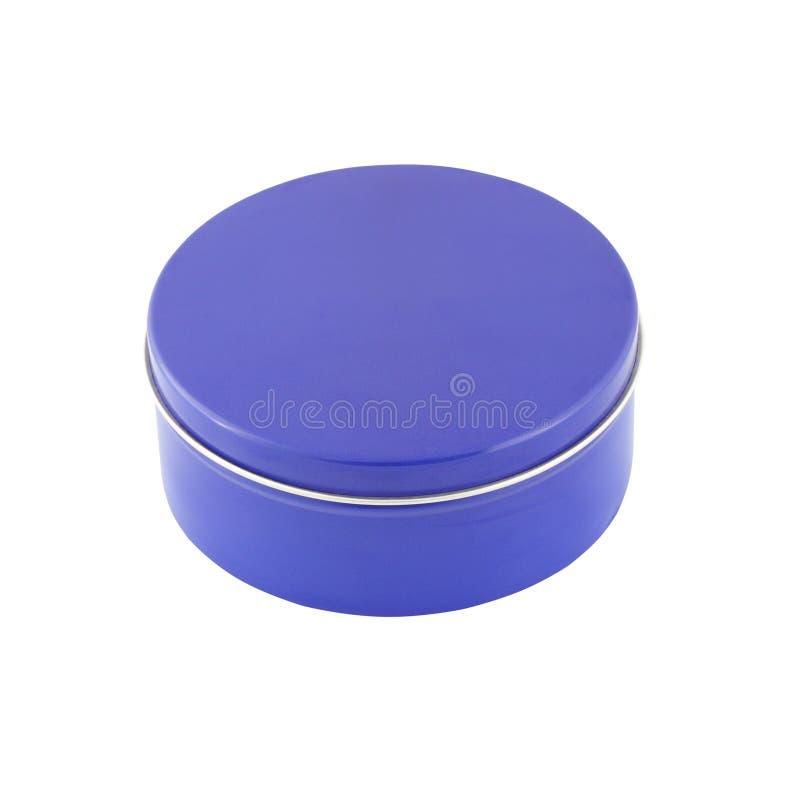 Μπλε μέταλλο γύρω από το κιβώτιο στοκ φωτογραφίες με δικαίωμα ελεύθερης χρήσης