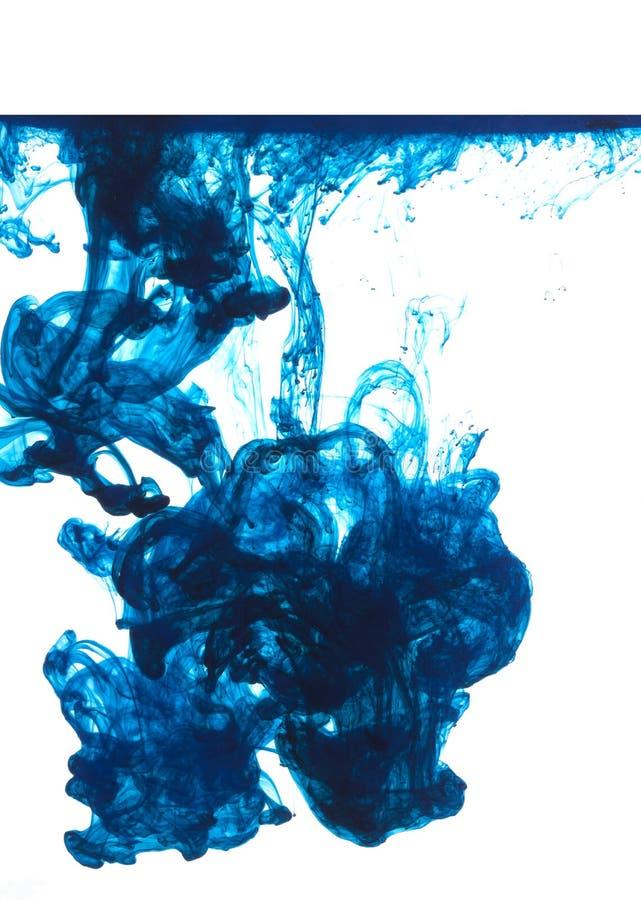 μπλε μελάνι στοκ φωτογραφία