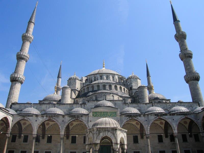 Μπλε μουσουλμανικό τέμενος του Ahmed σουλτάνων μουσουλμανικών τεμενών στη Ιστανμπούλ, Τουρκία στοκ φωτογραφίες με δικαίωμα ελεύθερης χρήσης