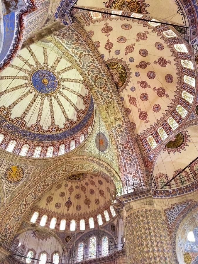 μπλε μουσουλμανικό τέμενος στοκ φωτογραφίες με δικαίωμα ελεύθερης χρήσης