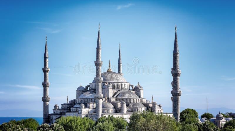 μπλε μουσουλμανικό τέμε στοκ εικόνα με δικαίωμα ελεύθερης χρήσης
