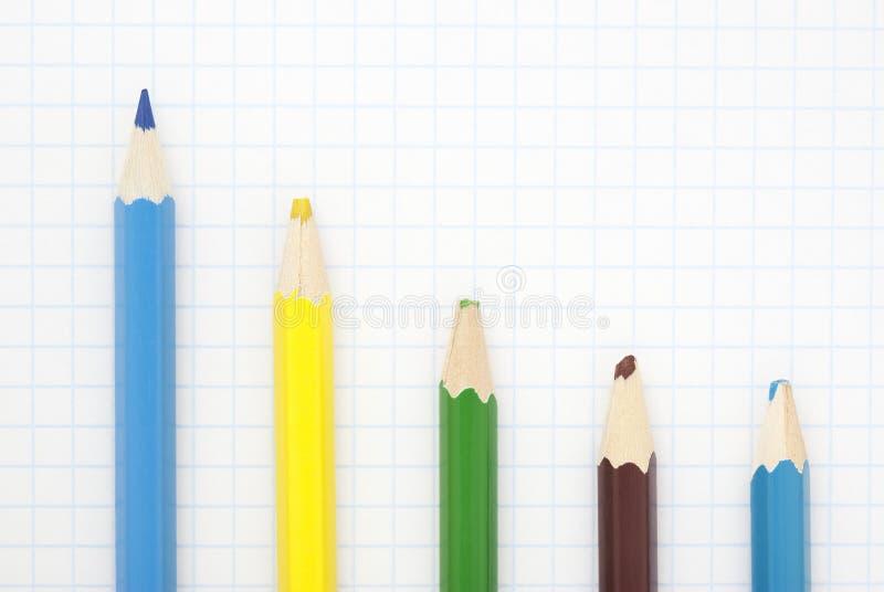 μπλε μολύβι αιχμηρό στοκ εικόνα