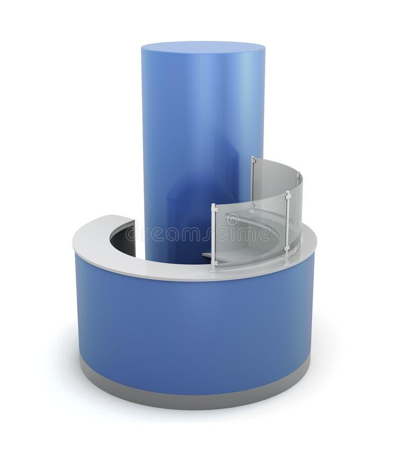 Μπλε μπροστινό γραφείο απεικόνιση αποθεμάτων