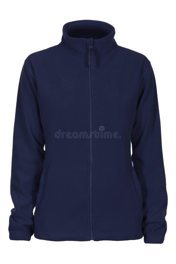 Μπλε ναυτικό δέρας μπλουζών για τη γυναίκα στοκ εικόνες