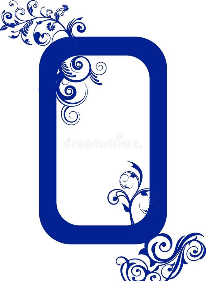 Μπλε ναυτικό διακοσμητικό πλαίσιο στοκ εικόνα