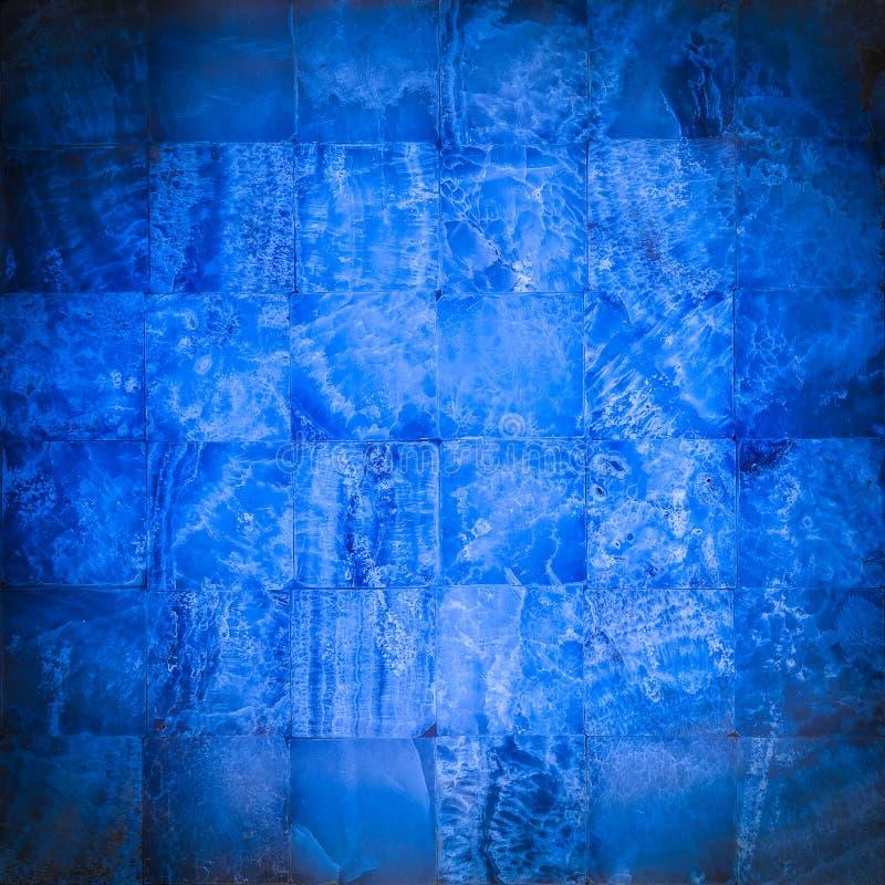 Μπλε ναυτικό μωσαϊκό πετρών στοκ φωτογραφίες