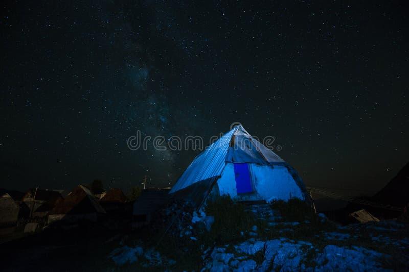 Μπλε νύχτα στοκ εικόνες