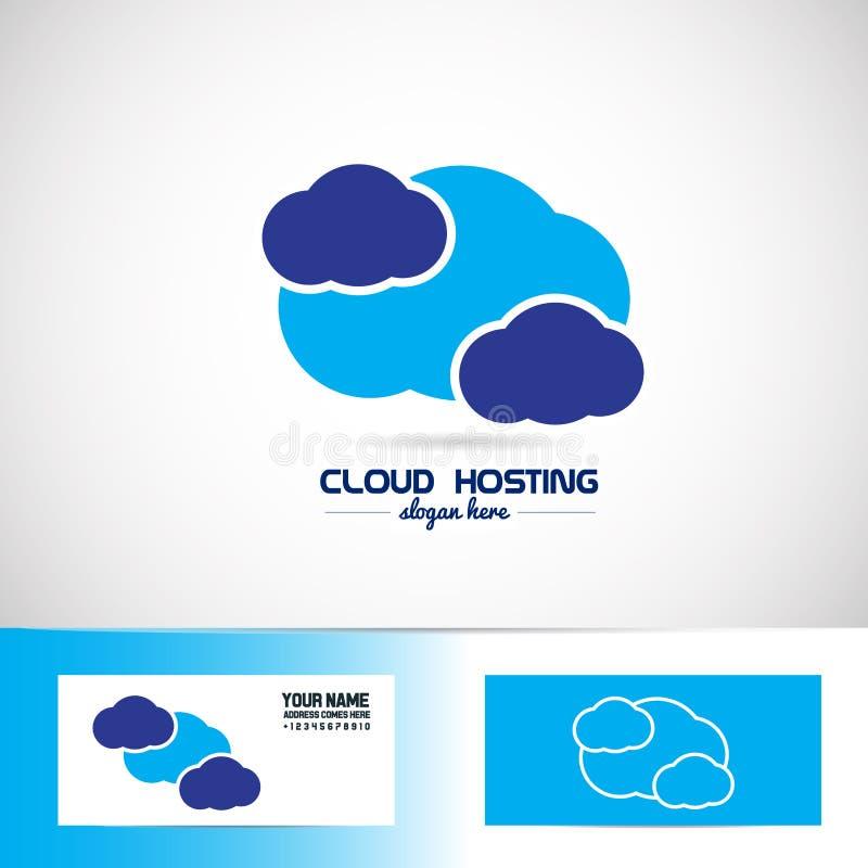Μπλε λογότυπο σύννεφων ελεύθερη απεικόνιση δικαιώματος