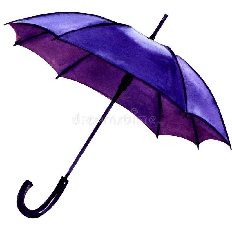 Μπλε ομπρέλα σε ένα άσπρο υπόβαθρο ελεύθερη απεικόνιση δικαιώματος