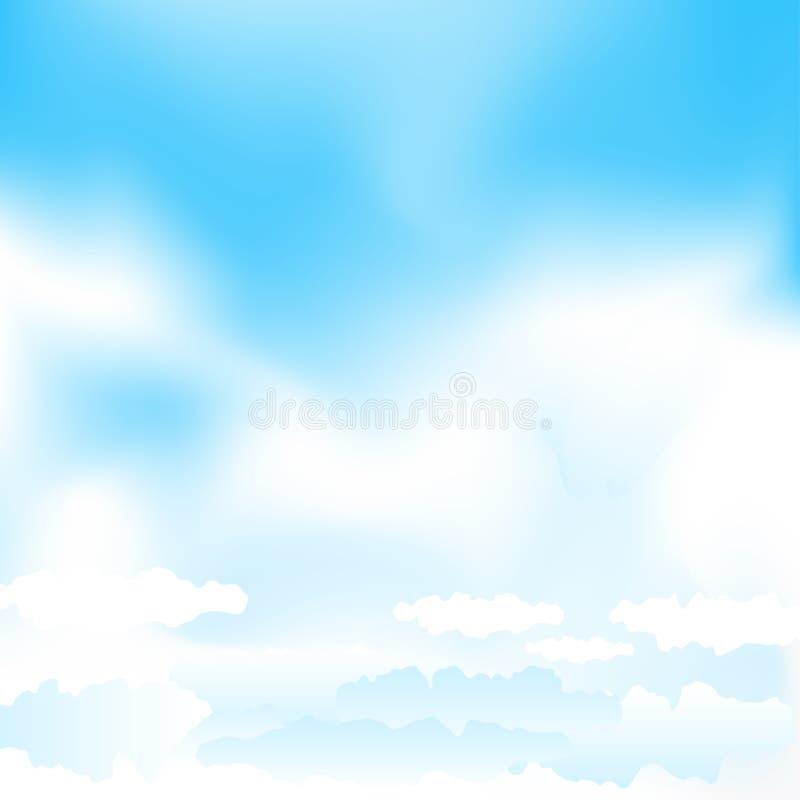 Μπλε ουρανός πλέγματος κινούμενων σχεδίων ελεύθερη απεικόνιση δικαιώματος