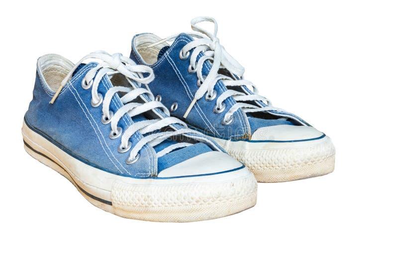 Μπλε πάνινο παπούτσι Jean στοκ φωτογραφία με δικαίωμα ελεύθερης χρήσης