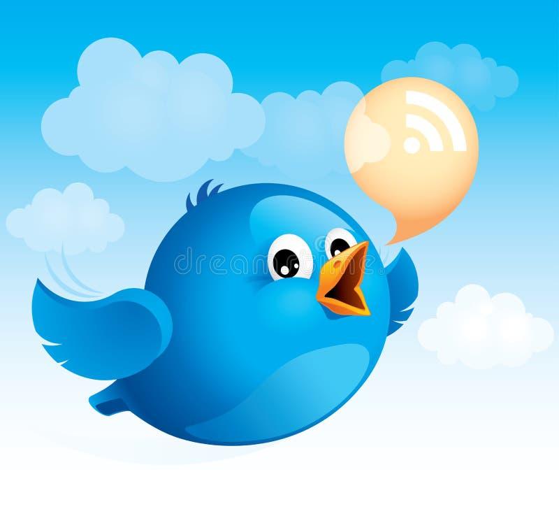 μπλε πέταγμα πουλιών ελεύθερη απεικόνιση δικαιώματος