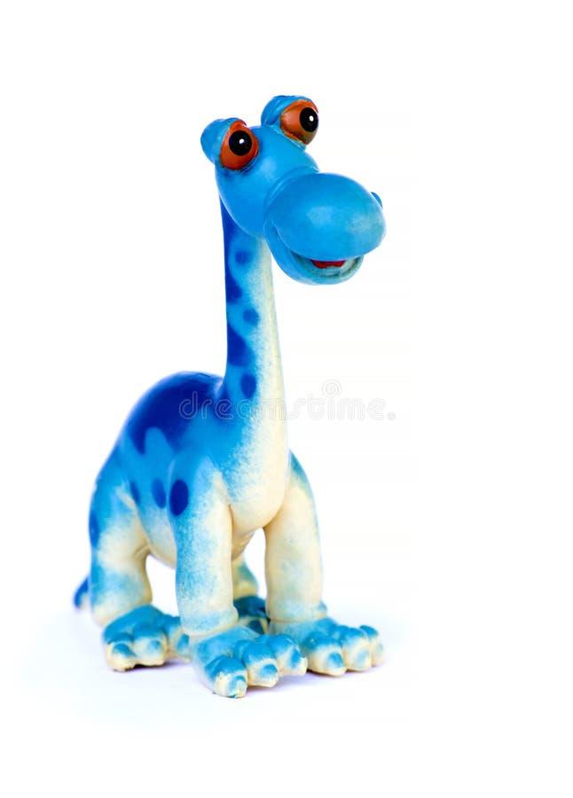 Μπλε παιχνίδι δεινοσαύρων που απομονώνεται στοκ εικόνα με δικαίωμα ελεύθερης χρήσης