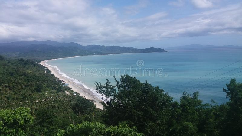Μπλε παραλία στοκ εικόνα