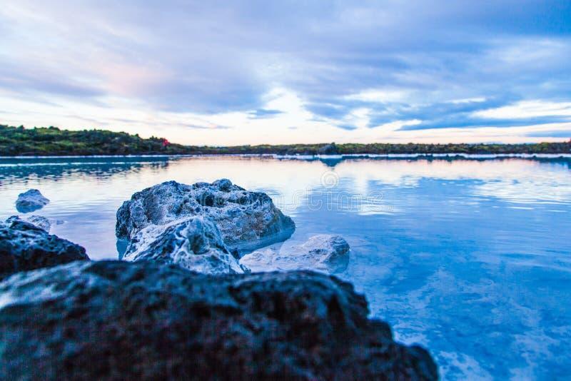 Μπλε περιοχή λιμνοθαλασσών κοντά στο Ρέικιαβικ, Ισλανδία στοκ εικόνες με δικαίωμα ελεύθερης χρήσης