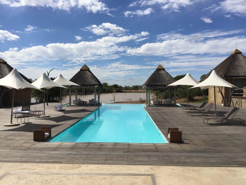 Μπλε πισίνα στην αφρικανική έρημο στοκ φωτογραφία με δικαίωμα ελεύθερης χρήσης