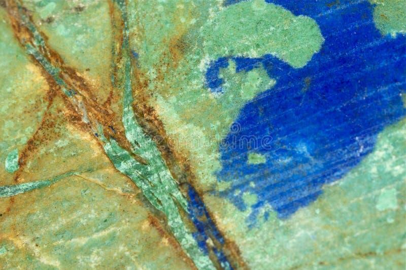 Μπλε, πράσινος, και πορτοκαλής βράχος στοκ φωτογραφίες με δικαίωμα ελεύθερης χρήσης