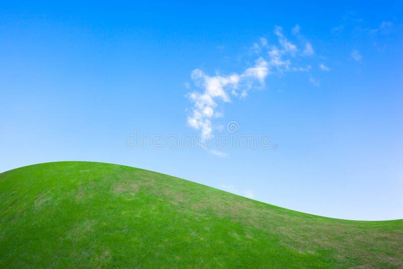 μπλε πράσινος ουρανός πεδίων στοκ εικόνες