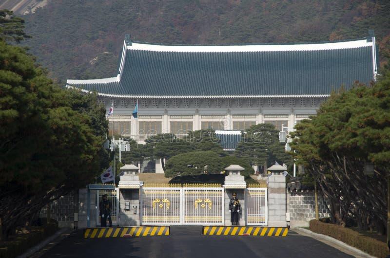 Μπλε προεδρική κατοικία Νότια Κορέα σπιτιών στοκ φωτογραφία με δικαίωμα ελεύθερης χρήσης