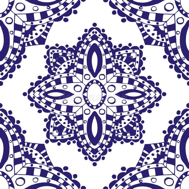 μπλε πρότυπο άνευ ραφής ελεύθερη απεικόνιση δικαιώματος