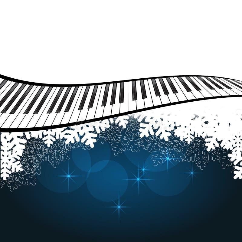 Μπλε πρότυπο με το πιάνο ελεύθερη απεικόνιση δικαιώματος