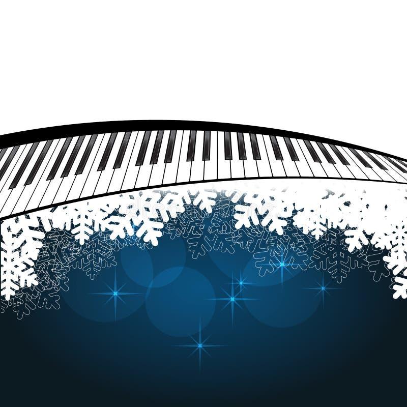 Μπλε πρότυπο με το πιάνο διανυσματική απεικόνιση