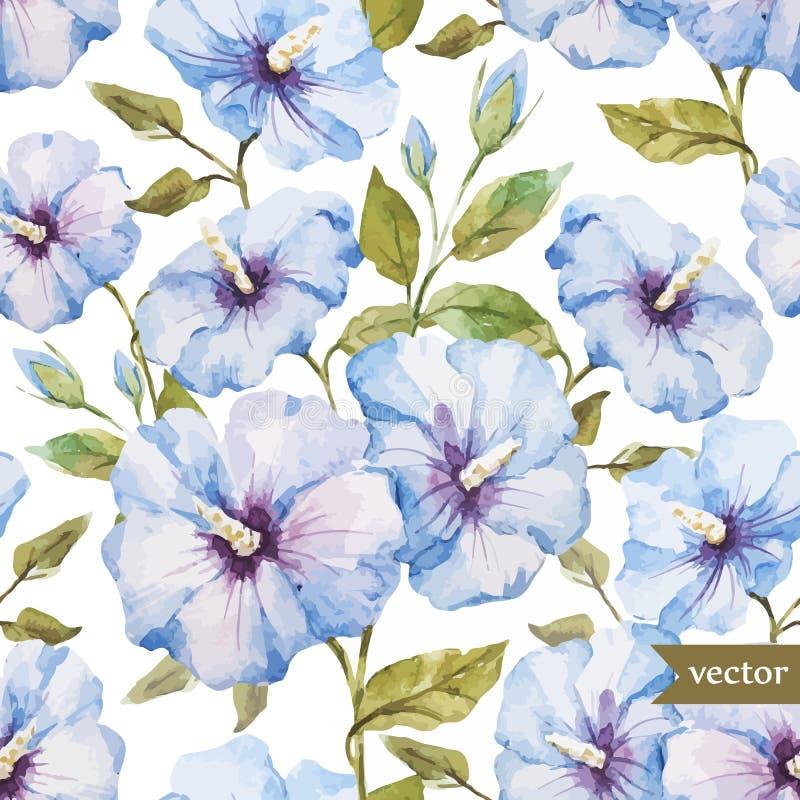 μπλε πρότυπο λουλουδιώ απεικόνιση αποθεμάτων