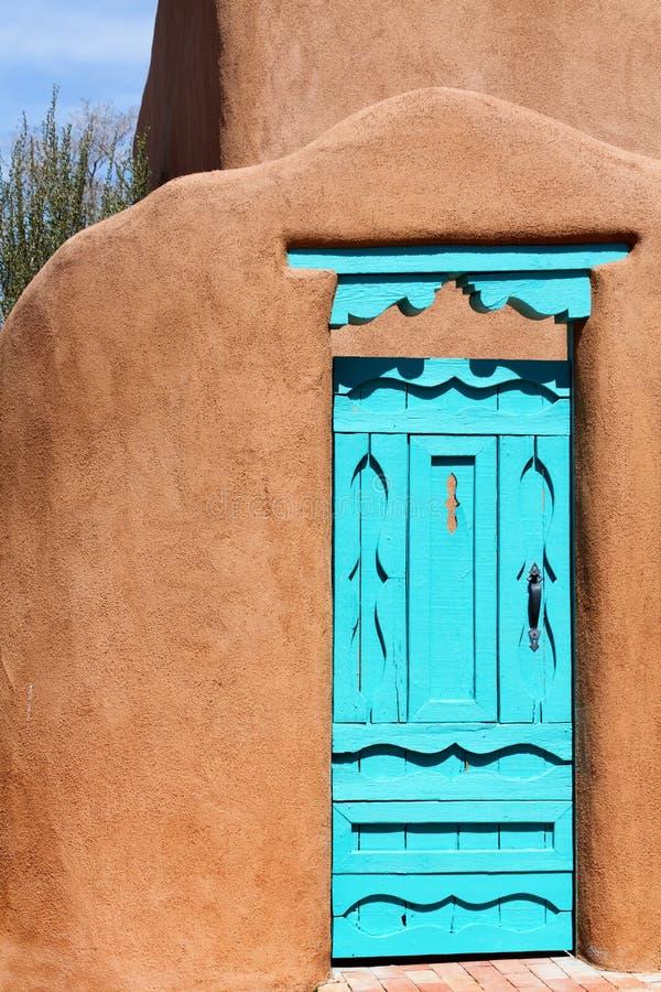 Νοτιοδυτική μπλε πόρτα στοκ φωτογραφία