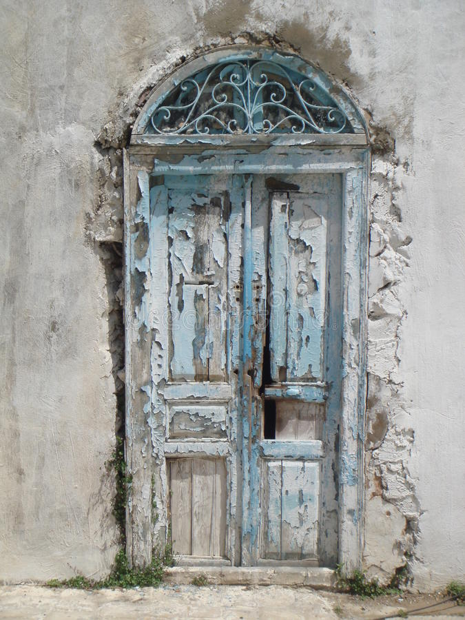 Μπλε πόρτες Sidi εν λόγω Bou Τυνησία στοκ φωτογραφία με δικαίωμα ελεύθερης χρήσης