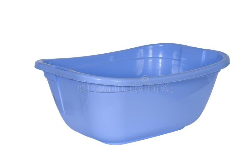 Μπλε πλαστική λεκάνη, στοκ εικόνα με δικαίωμα ελεύθερης χρήσης