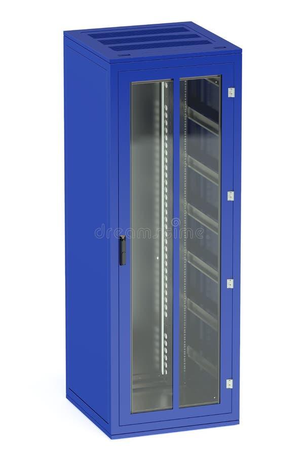 Μπλε ράφι κεντρικών υπολογιστών απεικόνιση αποθεμάτων